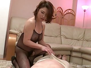 Older guy gets his dick pleasured by sexy babe Shinobu Igarashi