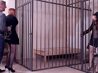 First time these caged sluts ration a huge dong back such mesmerizing scenes