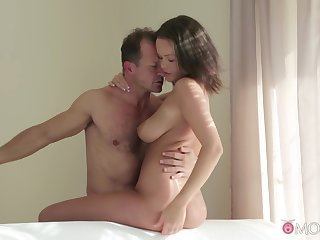 Busty chick fucked wits daddy added to jizzed like a whore