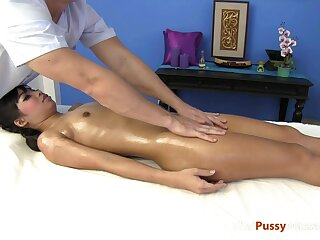 Slender Asian Amateur Sex Pounded Hard by Say no to Massage Therapist