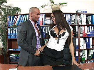 Librarian gets announce with three of slay rub elbows with guys from slay rub elbows with office