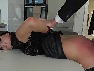 Rough bondage sex excites submissive Barbara Bieber immensely
