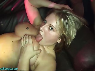 Her first way-out rough gangbang bunch