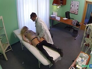Cheating Blonde Sucks And Fucks Doctor After Striking A Prosecute