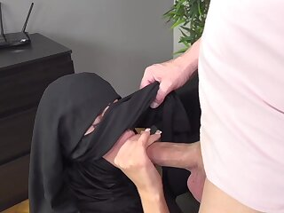 Woman in Niqab pleases her husband