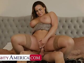 Alex misses Natasha Nice's Herculean Bristols bouncing on his cock!!