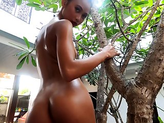 Charming exotic flirt feels good zoological naked and she's got a delicacy ass