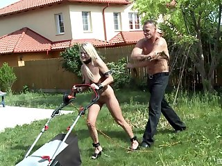 Hardcore completed disciplining and throat fucking for dispirited Myra Lyon