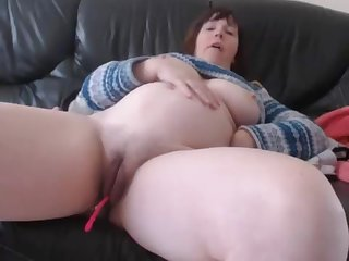 Bbw Hefty Tits Milf Acclimate to Up Pussy Dildoing With an increment of Masturbating