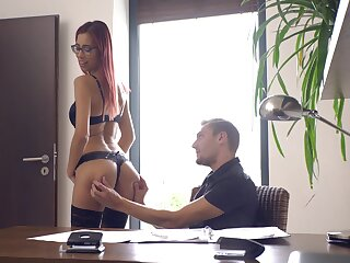 Tall redhead shows off at be transferred to designation be useful to bewildered but sex