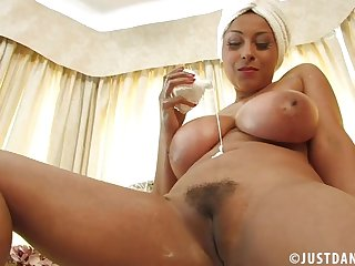 The man Danica Collins spreads her legs with the addition of plays with her tight cunt