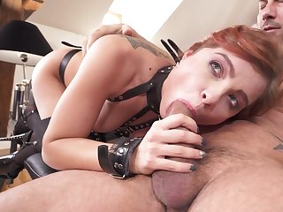Renata Belial is rocking some sexy black lingerie during this hot fuck