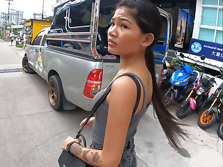 Real amateur Thai teen light of one's life after lunch