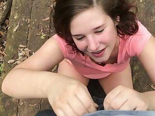 Slutty Teen Fucks Outdoors