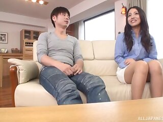 Stunning explicit suits their way fine Asian cunt with unbridled inches