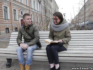Amateur Russian student Iza takes cumshots on glasses