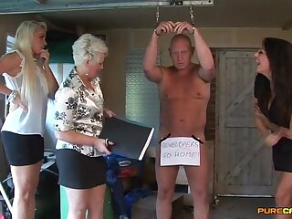 Old dude enjoys getting blowjobs from Katie Janeway & Lexi Fisher