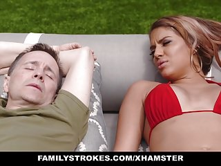 FamilyStrokes - Caught Masturbating and Fucked By Stepmom
