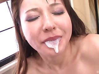 Rough and abusive hardcore deepthroat for a Japanese MILF