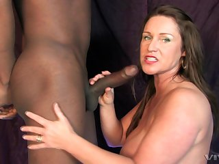 Jodie Hernendez swallows a black guys cumshot after a hardcore fuck
