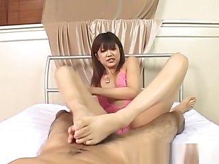 Rika Hayama in Heraldry sinister lingerie strokes penis