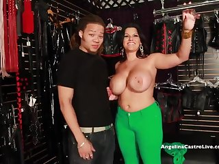 BIG TITTED ANGELINA CASTRO FUCKS & SQUIRT IN A Carnal knowledge STORE!?