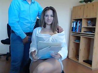 Secretary Seduces Her Mr Big brass At Order Live