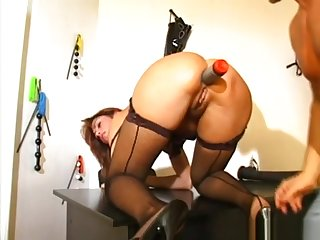 flaxen-haired babe forth thigh high boots gets analhilated