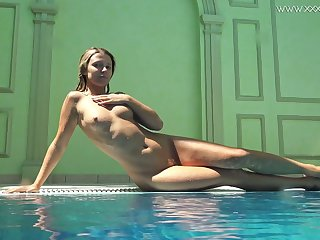 Ardent added at hand erotic bikini unshaded Mary Kalisy is ready at hand expose the brush body underwater
