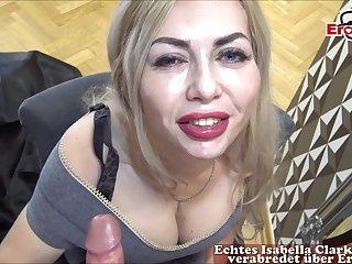 german blonde milf fuck at mirror casting