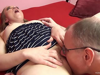 Chubby ass beauty enjoys oft-times of dick in their way cramped holes