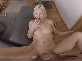 POV home porn in incredible scenes for the hot tow-headed