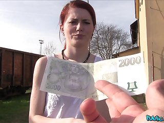 Outdoor wild fuck close to a stranger is all turn this way cute Anne Swix wants