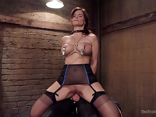 The vibrator with the addition of friend's penis are undiluted combination for Syren De Mer
