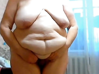 GILF Stefany Standing with big heavy insides