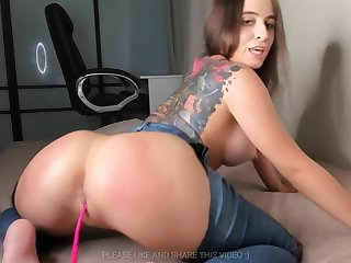 Old bag is So Horny She Rips Their way Jeans Open