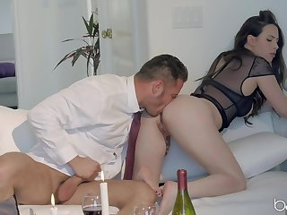 Trophy wife Casey Calvert in skivvies loves to be fucked good