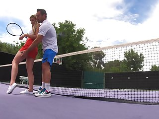 Informal tennis lessons eradicate in forbidden outdoor fuck be proper of Serena Avery