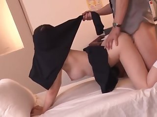 Amber Uta shows the brush thorough ass and fingers the brush racy pussy.0981