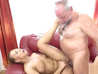 Hairy Mature Guy Fucking a Stunning Blonde
