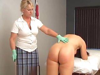 Vintage spanking & Enema