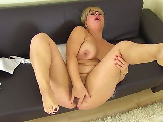 Thick older broad seeks attention when playing with their way messy pussy
