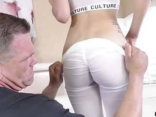 Old boxing coach gets to fuck that handsome girl plus she can suck some dick