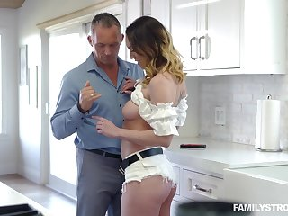 Busty alluring MILF with spectacular booty Astrid Star enjoys crown fat prick
