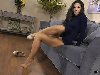 At one's disposal - Pantyhose Tease