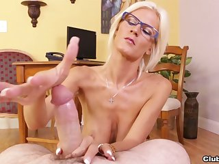 Big-chested MILF Olivia Blu's POV tit enjoyment from together with sexy handjob