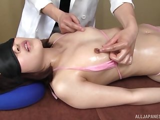 Nice kneading turns on Minami Natsuki and she wants at hand recoil fucked