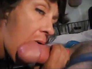 XXX older lady sucking dick and white lightning cum