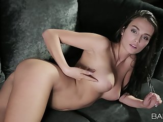 Solo angel reveals pussy and tits back a incomparable teaser