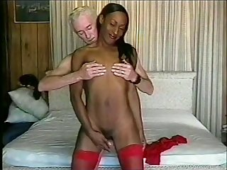 Amateur videotape of an old waxen ladies' fucking ebony model Tropikal Storm